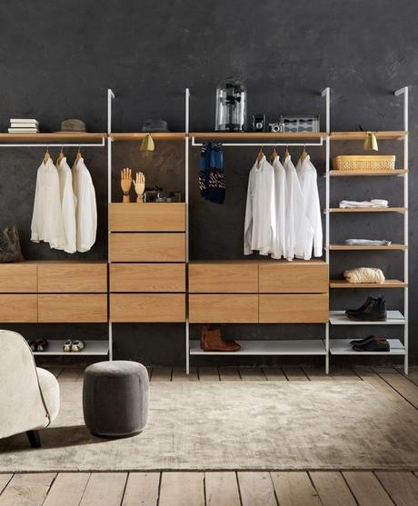 optimiser le rangement gagner des espaces de rangement chambre dressing étroit penderie ouverte blog déco clem around the corner