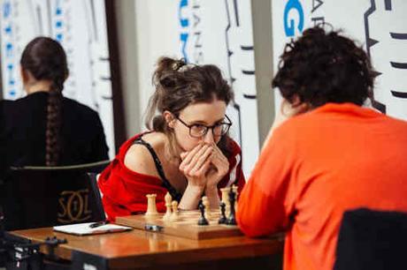 Retour sur la ronde 8 : Première victoire de la Française Marie Sebag face Ă l'AmĂŠricaine Irina Krush - Photo © Austin Fuller