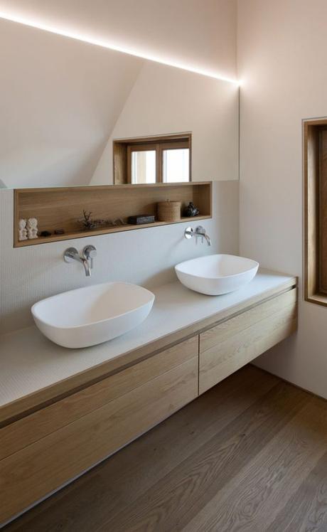 salle de bain ambiance zen minimaliste simple bois blanc installation aménagement blog déco clem around the corner