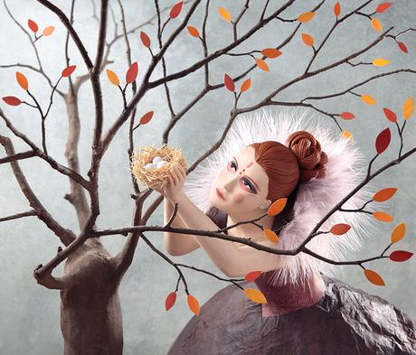 Hand-sculpted illustrations by Irma Gruenholz