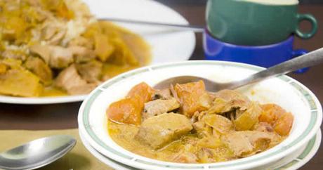 porc aux patates douces et curry au cookeo