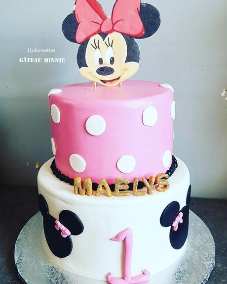 Gâteau 2 étages Minnie