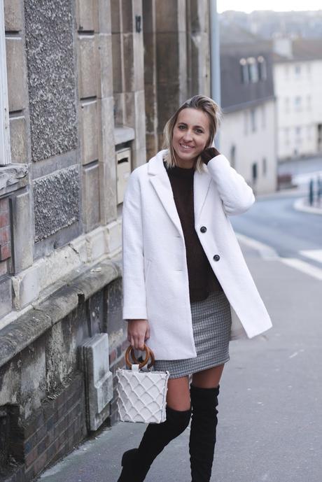 Manteau blanc pour l'hiver