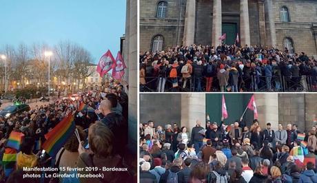 Bordeaux : 250 personnes manifestent contre l'homophobie en soutien aux victimes d'agression