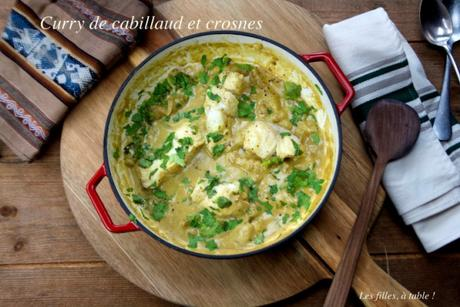 Curry de cabillaud et crosnes