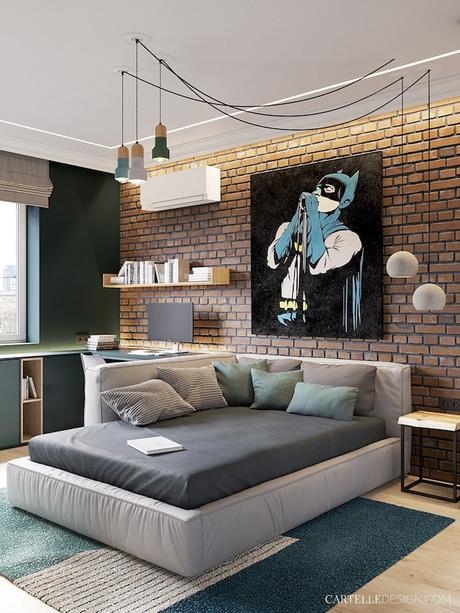 chambre ado loft design 3 pièces de Saint Pétersbourg - blog déco - Clem Around The Corner