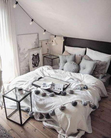 déco chambre ado cocooning fille gris blanc gipsy blog déco clem around the corner