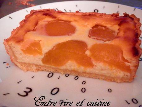 Tarte cheesecake à la ricotta, à la vanille et aux abricots