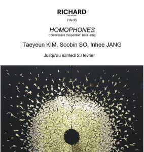 Galerie RICHARD  3 artistes Coréennes  «  » Homophones «  »  dernier jour le 23 Février 2019