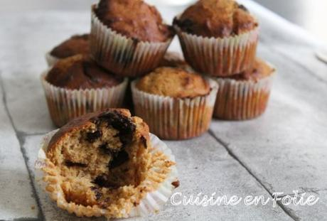 Muffins façon bananabread