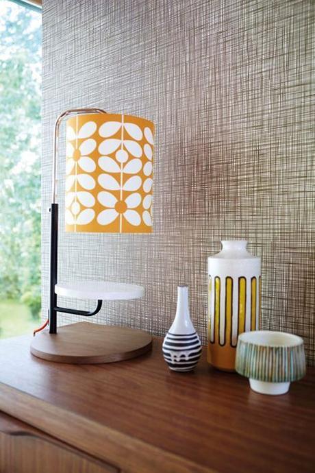 style rétro salon lampe orange - blog déco - clem around the corner