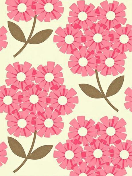 style rétro fleurs roses - blog déco - clem around the corner