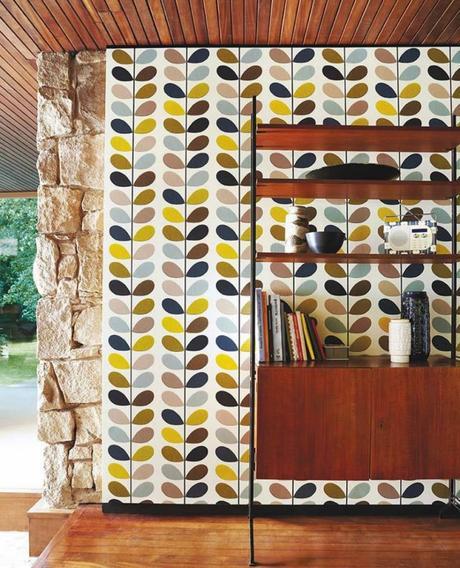 style rétro inspiration salon mur briques - blog déco - clem around the corner