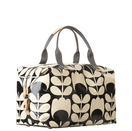 style rétro sac voyage beige noir - blog déco - clem around the corner