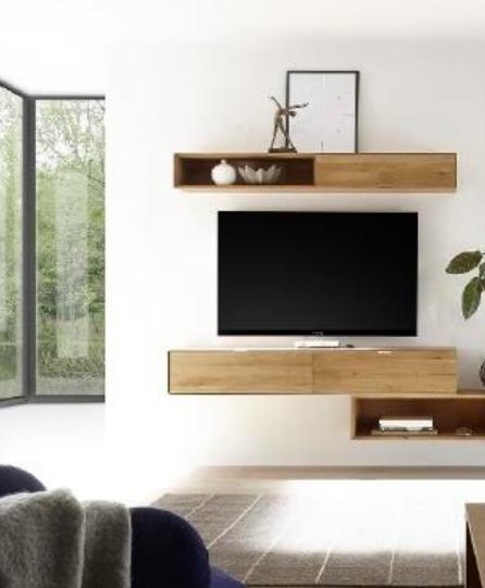 habitat connect salon écran plat noir mobilier bois - blog déco - clem around the corner.