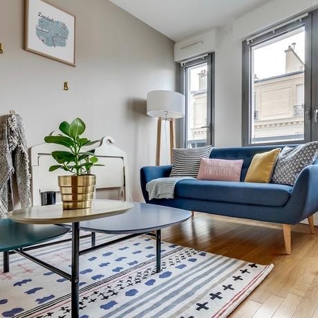 studio transformé en 2 pièces salon cosy scandinave étudiant appartement - blog déco - clem around the corner
