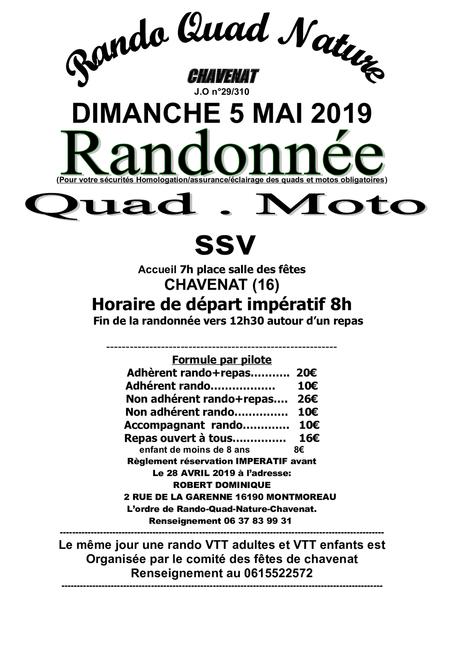 Rando quad, moto et SSV de Rando Quad Nature le dimanche 5 mai 2019 à Chavenat (16)