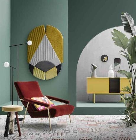 décoration vert céladon couleur rouge velours ethnique - blog déco - clem around the corner