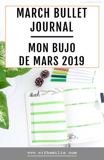 Mon Bullet Journal de Mars | De la verdure sur les pages