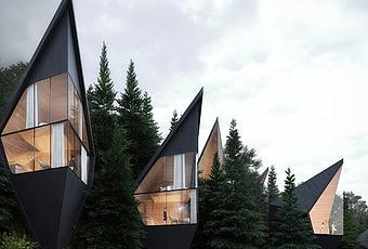 ces cabanes du futur s installent au c ur de la for t italienne d couvrir. Black Bedroom Furniture Sets. Home Design Ideas