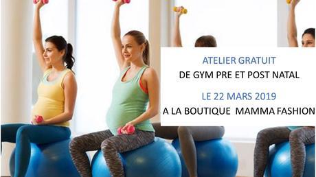 Atelier sportif gratuit : Gym pré et post natal – 22 mars – Paris