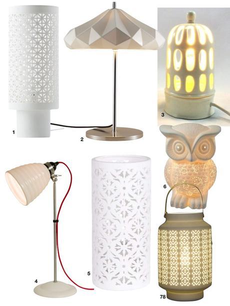 lampe sur pied en porcelaine design - blog déco - clem around the corner
