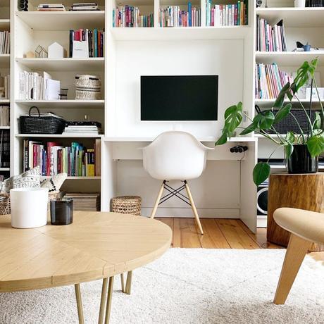 pierre papier ciseaux table diy bois laiton - blog déco - clem around the corner