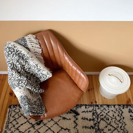 pierre papier ciseaux blog fauteuil cuir ocre bicolor - blog déco - clem around the corner