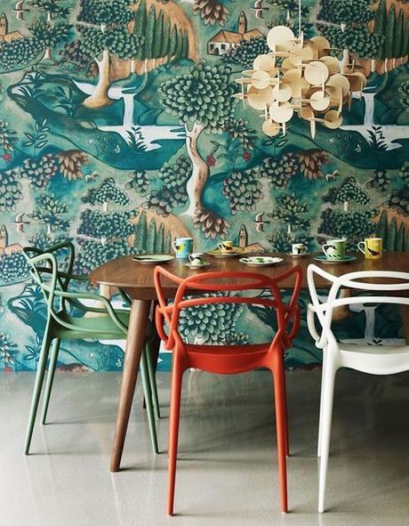 assortir des chaises dépareillées même couleur plastique blog déco clem around the corner