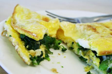 Recette d'omelette aux pissenlits et au lard