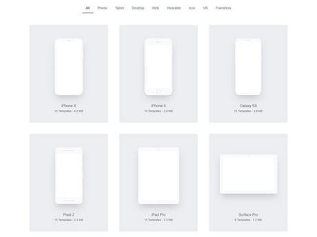 [RESSOURCES WEBDESIGN] : Des gabarits à imprimer pour préparer vos interfaces
