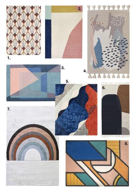 comment fixer un tapis au mur technicolor couleurs graphique - blog déco - clem around the corner