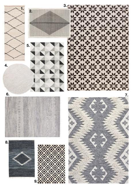 comment fixer un tapis au mur scandinave géometrique - blog déco - clem around the corner