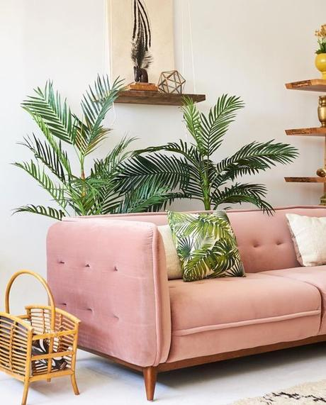 millennial pink salon exotique plantes - blog déco - clem around the corner