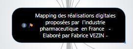 Mapping des réalisations digitales proposées par l'industrie pharmaceutique en France- MAJ Mars