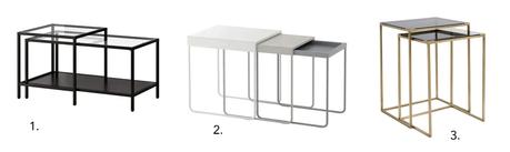 Décoration : les tables gigognes