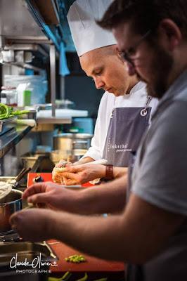 Dans les cuisines du Spettacolo avec Stefan Lünse au Lenkerhof !