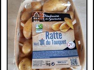 Poulet aux oignons et au miel et pommes de terre rattes confites