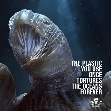 Pollution plastique en mer : nouvelle campagne choc de Sea Shepherd