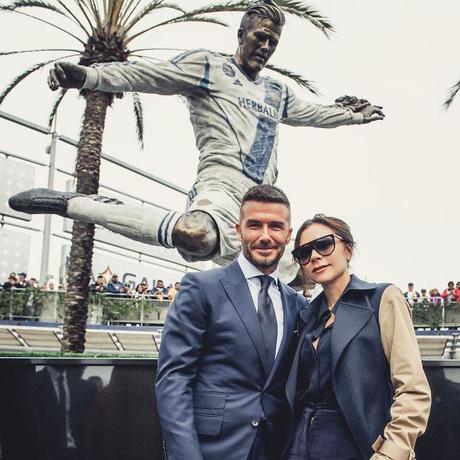 David Beckham piégé par une fausse statue en son honneur
