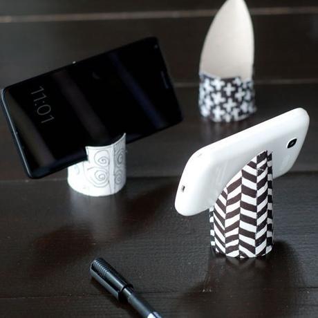 idée déco récup papier toilette support portable - blog déco - clem around the corner