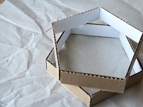 idée déco récup carton marron - blog déco - clem around the corner