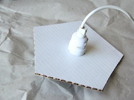 idée déco récup carton lampe suspension - blog déco - clem around the corner