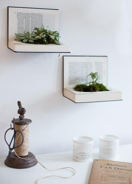 idée déco récup support plante grasse - blog déco - clem around the corner