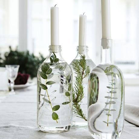 idée déco récup bouteille transparente bougie - blog déco - clem around the corner