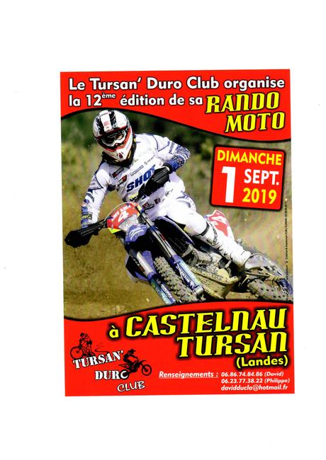 12 ème édition de la Ronde de Tursan du Tursan'duro club (40), le 1 septembre 2019