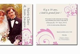 Carte Invitation Anniversaire De Mariage 30 Ans Gratuite A Decouvrir