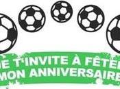 Carte invitation anniversaire garçon imprimer foot
