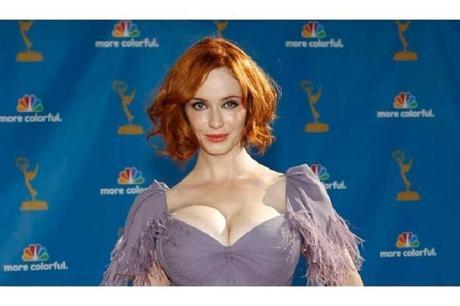 La cinquième plus belle actrice rousse: Christina Hendricks !