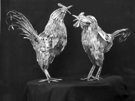 Divers - Sculptures avec des couverts - 2